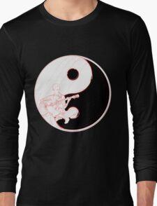 yin yang guitarist  Long Sleeve T-Shirt