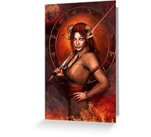 Aries from my Fantasy Zodiac Circle Greeting Card