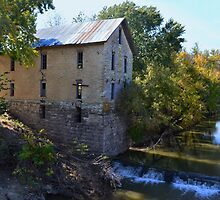 Historic Cedar Point Mill, Kansas by Catherine Sherman