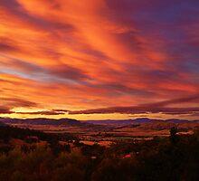 Coal River Valley sunset - Richmond, Tasmania, Australia by PC1134