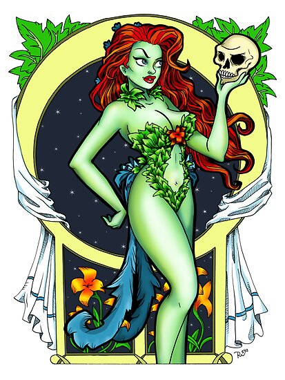 Art Nouveau Poison Ivy by BeccaW