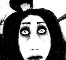 Her eyes so innocent... on hallowed ground. Sticker