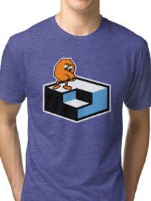Q*Bert Skateboarding Tri-blend T-Shirt