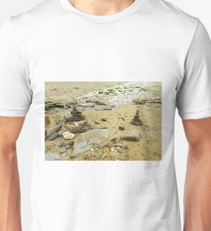Stacked Stones on Durgan Beach, Cornwall Unisex T-Shirt