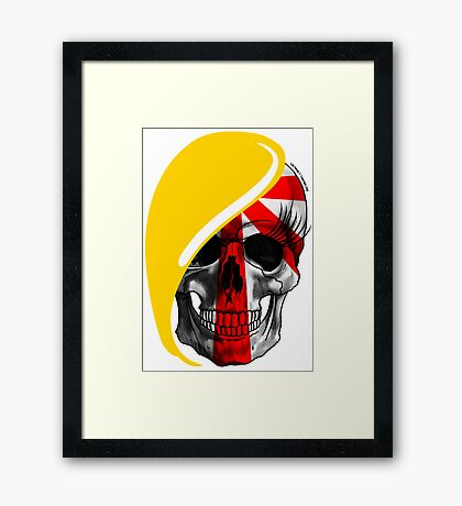 Blond skull! Framed Print
