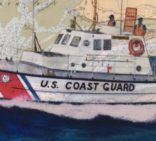 USCG Lifeboat Invincible Nautical Map Cathy Peek Sticker