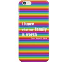 Penny Wong rainbow sticker iPhone Case/Skin