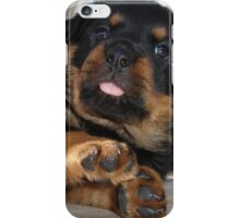 Cute Rottweiler Puppy Being Playful iPhone Case/Skin