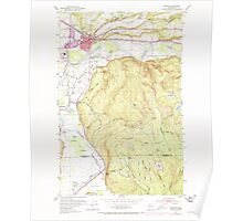 USGS Topo Map Washington State WA Monroe 242374 1953 24000 Poster