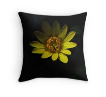 Fractal Yellow Neverland Throw Pillow