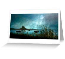Lindisfarne Moon  Greeting Card
