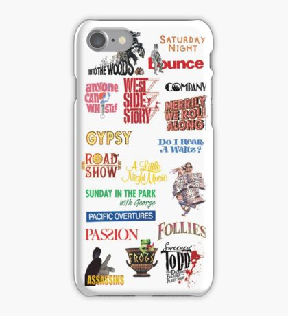 Sondheim Musicals  iPhone Case/Skin