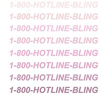 HOTLINE BLING pink Photographic Print
