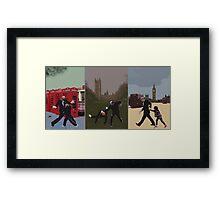 London Matrix triptych Framed Print