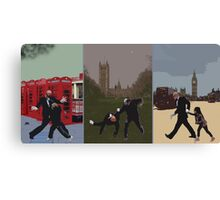 London Matrix triptych Canvas Print