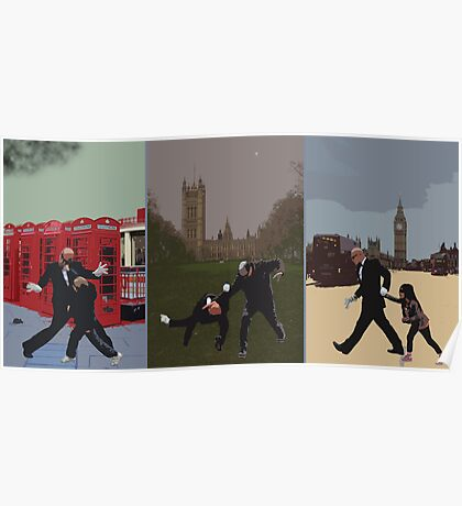 London Matrix triptych Poster