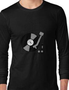 Vinyl Turntable - Black Long Sleeve T-Shirt