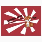"Shiba Inu: ""It's not Japanese for Dingo"" - Sticker by steenium"