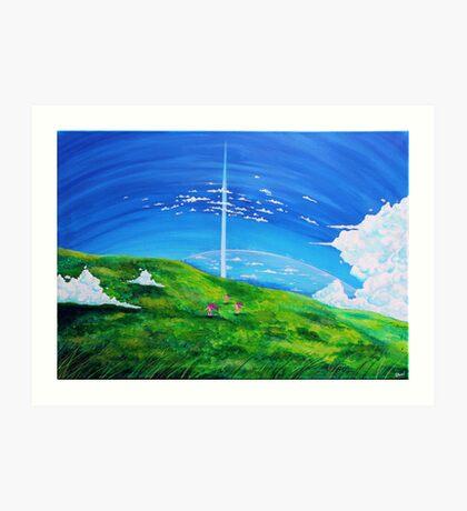 La tour au-delà des nuages (Beyond the Clouds) Art Print