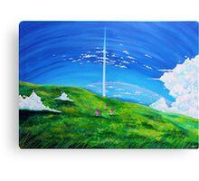 La tour au-delà des nuages (Beyond the Clouds) Canvas Print