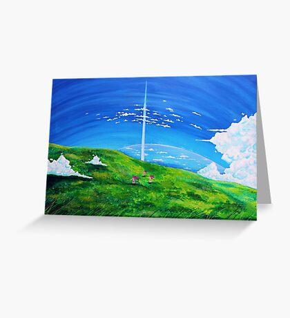 La tour au-delà des nuages (Beyond the Clouds) Greeting Card