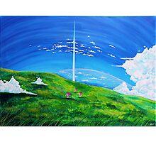 La tour au-delà des nuages (Beyond the Clouds) Photographic Print