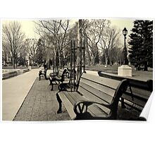 Victoria Park Benches Poster
