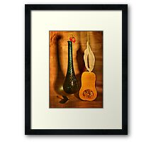 Still life with butternut squash Framed Print