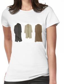 A study in trenchcoats Womens Fitted T-Shirt