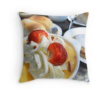 Lunch at Powmill milk bar! Throw Pillow