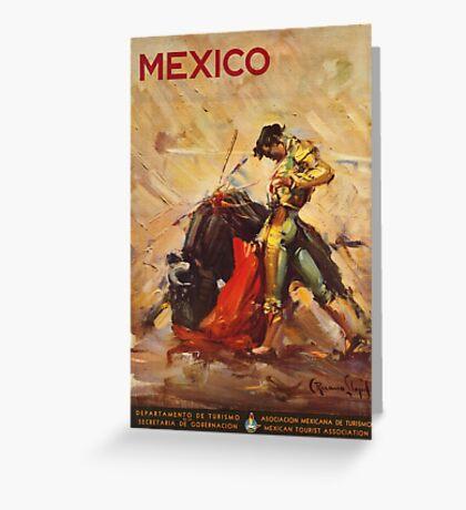 Vintage ad - Mexico matador Greeting Card