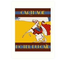 Vintage style 1920s Carthage travel advertising  Art Print