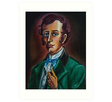 Mr. William Gracey from Gracey Mannor. Drawn by Topher Adam Art Print