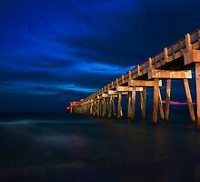 Panama City Pier At Night by Chris Ferrell