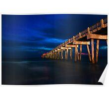 Panama City Pier At Night Poster