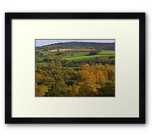 Devon's Autumn Landscape  Framed Print