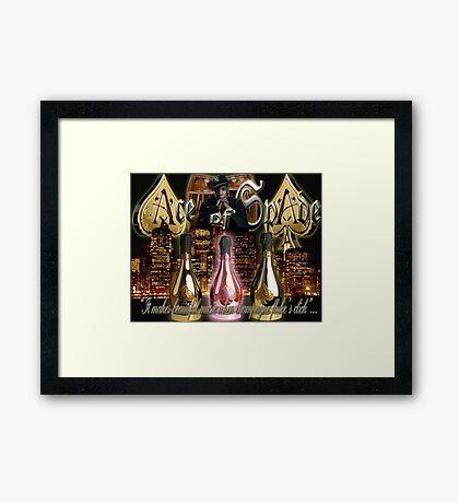 ACE OF SPADE Framed Print