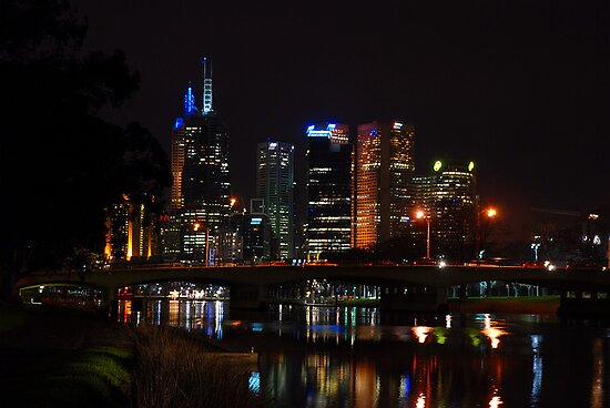 Melbourne at night 12 by DavidsArt