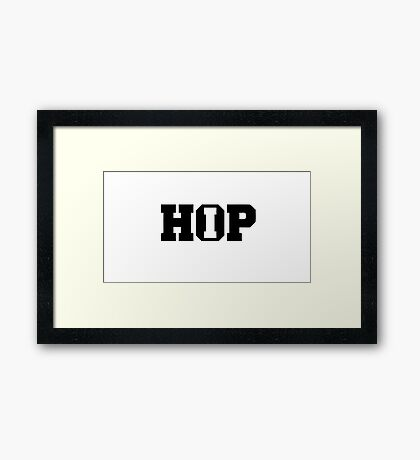 HIP HOP!  Framed Print