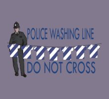 police washing line do not cross  Kids Clothes