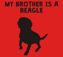 My Brother Is A Beagle One Piece - Short Sleeve
