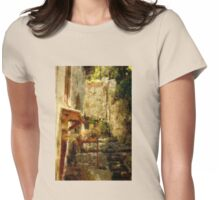 Front steps. Womens Fitted T-Shirt