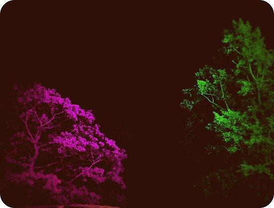 Retro Hologram Trees by Robert Plummer