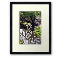 Dike Water Wheel Framed Print