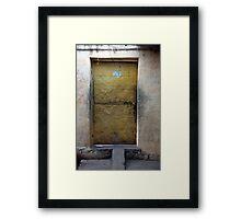 Yellow Mystery Door Framed Print