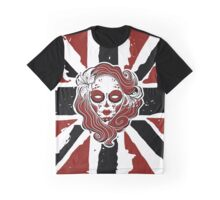 Gothica Siren on red black UJ Graphic T-Shirt