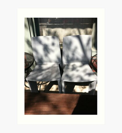 Belltown chairs Art Print
