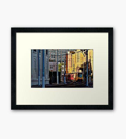 San Diego Trolley Series Downtown Framed Print