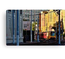San Diego Trolley Series Downtown Canvas Print