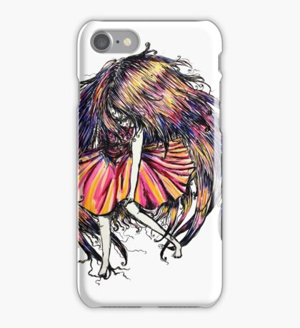 Faceless Girl is floating iPhone Case/Skin